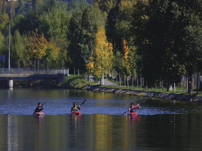 Piragüismo en el Canal Olímpico.  (Lluís Carro)