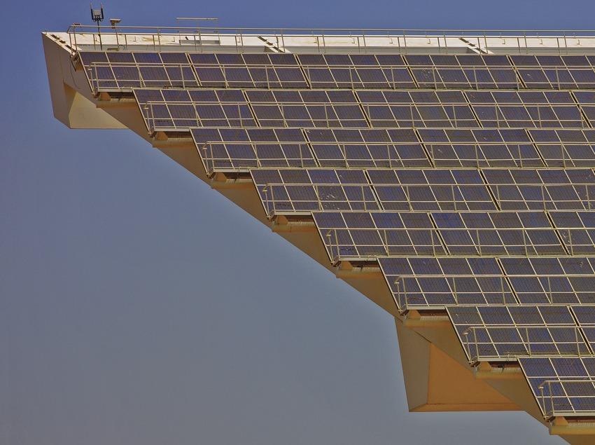Icona del Fòrum. Detall de la placa fotovoltaica  (Lluís Carro)