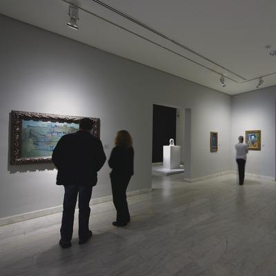 Visitants en una de les sales del Museu Picasso  (Lluís Carro)
