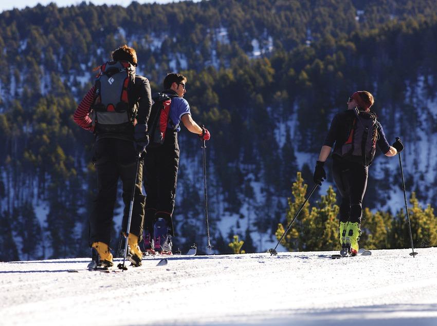 Esquí de fondo en la estación de Port Ainé.  (Lluís Carro)