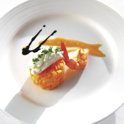 Plato de la nueva cocina catalana.