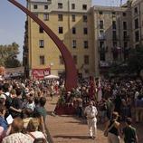 Возложение цветов на площади Фоссар-де-лес-Моререс в Национальный день Каталонии (Oriol Llauradó)
