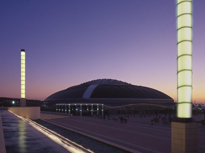 Palau Sant Jordi en la anilla olímpica de Montjuïc.