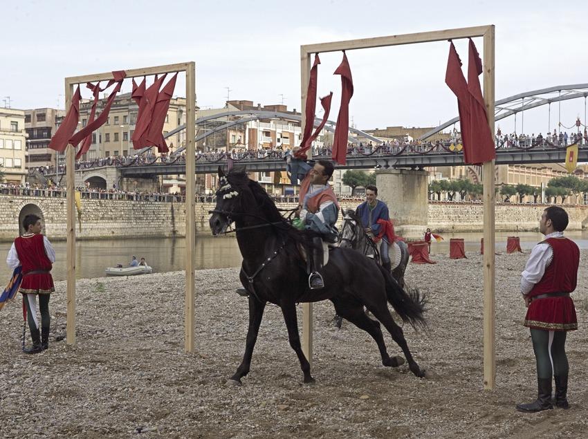 Cursa de cavalls durant la Festa del Renaixement (Oriol Llauradó)