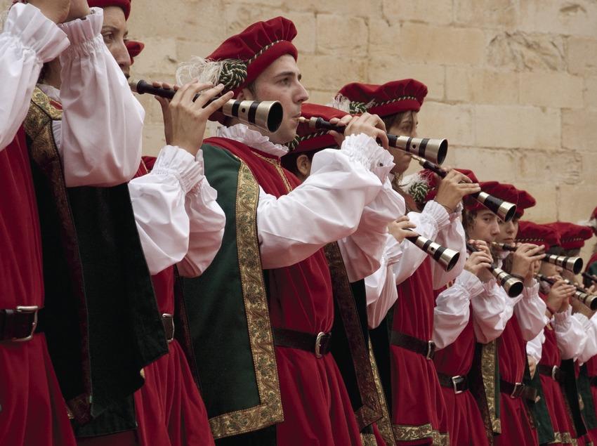 Músicos durante la Fiesta del Renacimiento (Oriol Llauradó)