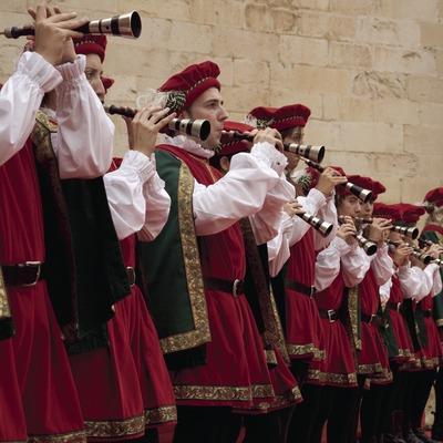 Músics durant la Festa del Renaixement (Oriol Llauradó)