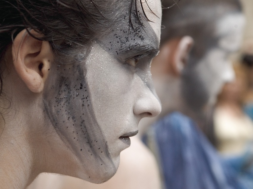 Detall d'un espectacle de carrer durant la Festa del Renaixement (Oriol Llauradó)