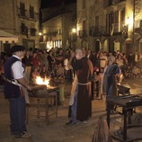 Herreros en la plaza durante la Feria Medieval