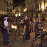 Ferrers a la plaça durant la Fira Medieval