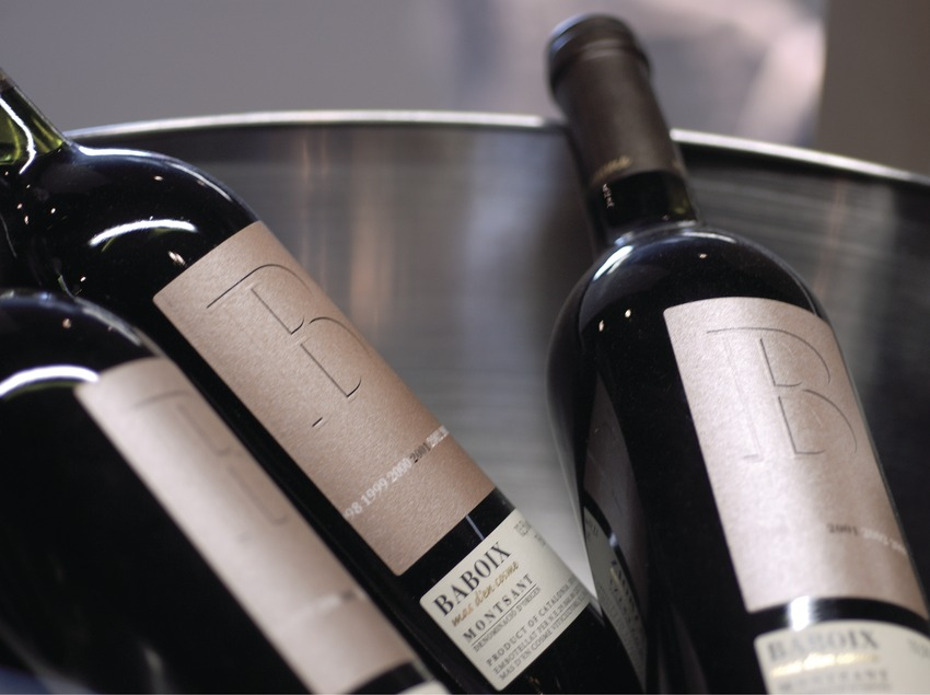 Бутылка вина, произведенного в винодельческом хозяйстве Bui & Giné