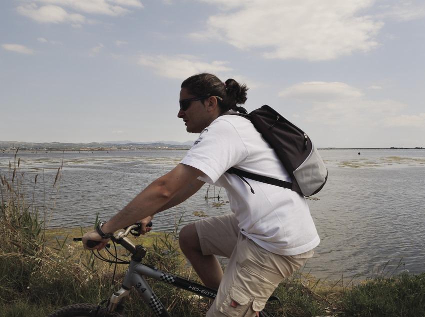 Randonnée à vélo dans le parc naturel du delta de l'Èbre (Tina Bagué)