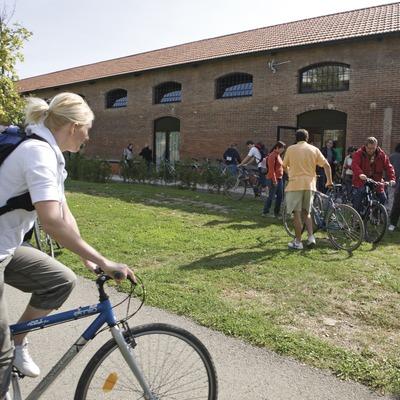 Actividades grupo B. Ruta del Hierro, excursión en bicicleta de montaña. Workshop Pirineo 2008  (Cablepress)