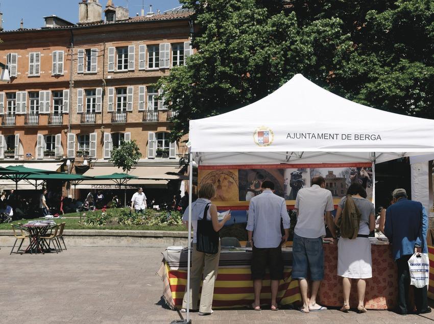 Stand del Ayuntamiento de Berga.  (Eric Medous)