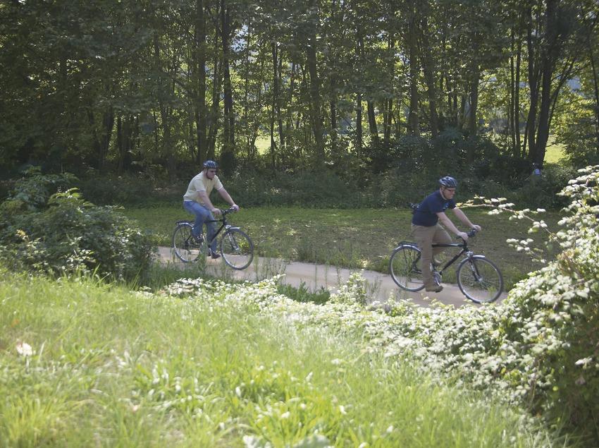 Salida en bicicleta de Les Preses en Les Planes d'Hostoles. Workshop Pirineus 2008