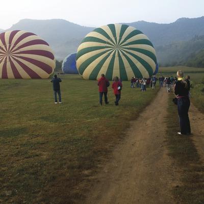 Volar amb globus a la Garrotxa