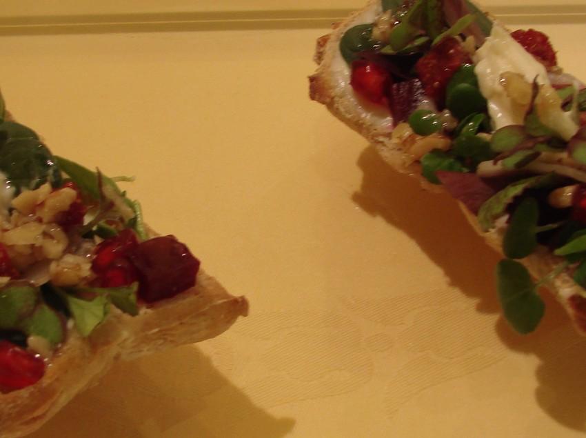 Coca de fajol amb figues i almadroc. Plat de la 23a Mostra Gastronòmica de la Garrotxa   (Imatges cedides per Cuina Volcànica)