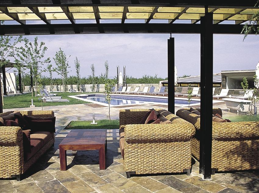 Terrassa de l'hotel Mas Passamaner   (Imatge cedida per l'hotel Mas Passamaner)