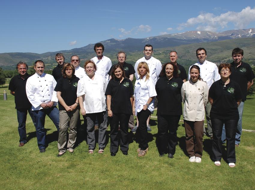 Grup de restauradors del col·lectiu Cuina Pirinenca   (Imatge cedida per Cuina Pirinenca)