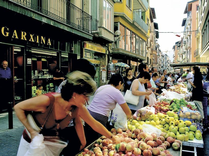 Parada de fruita del mercat   (Foto-tècnia fotògrafs)