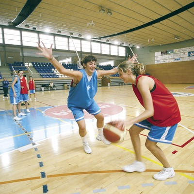 Partir de bàsquet femení al poliesportiu Municipal    (Foto-tècnia fotògrafs)