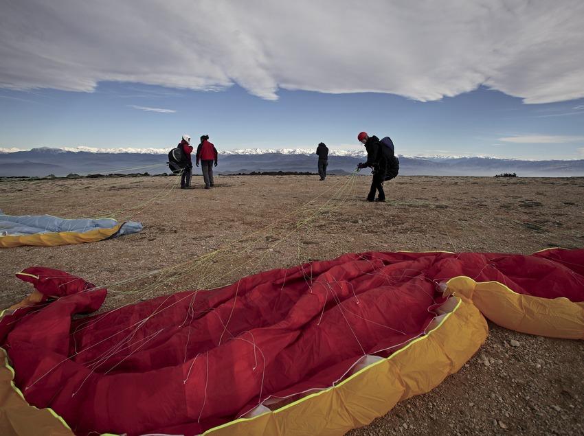 Paragliding take-off area at Àger