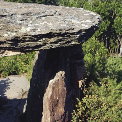 Serra de les Gavarres. Dolmen a Puig d'Arques (José Luis Rodríguez)
