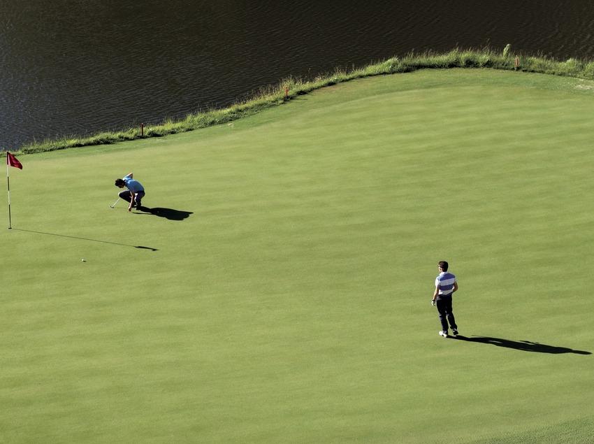 Lumine Golf PortAventura. Vistas del campo de golf y de los jugadores. (Gemma Miralda)