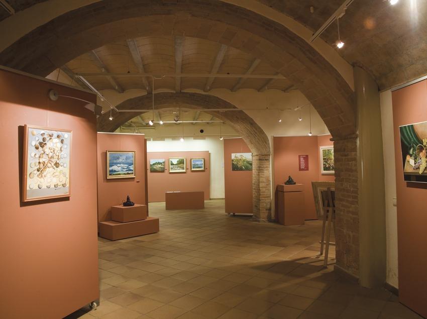 Sala de exposiciones del museo de Premià de Dalt  (Imagen M.A.S.)