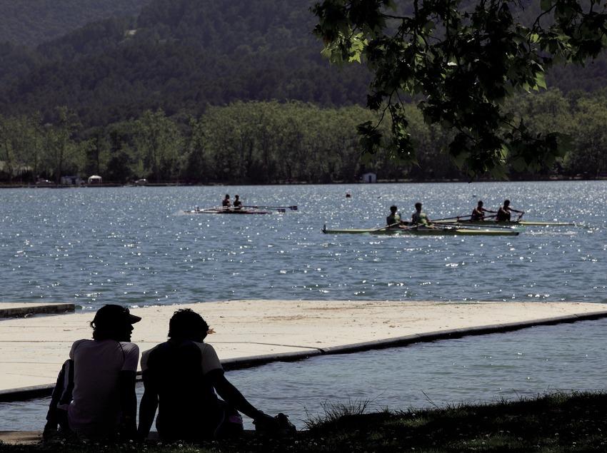 Rem a l'estany de Banyoles