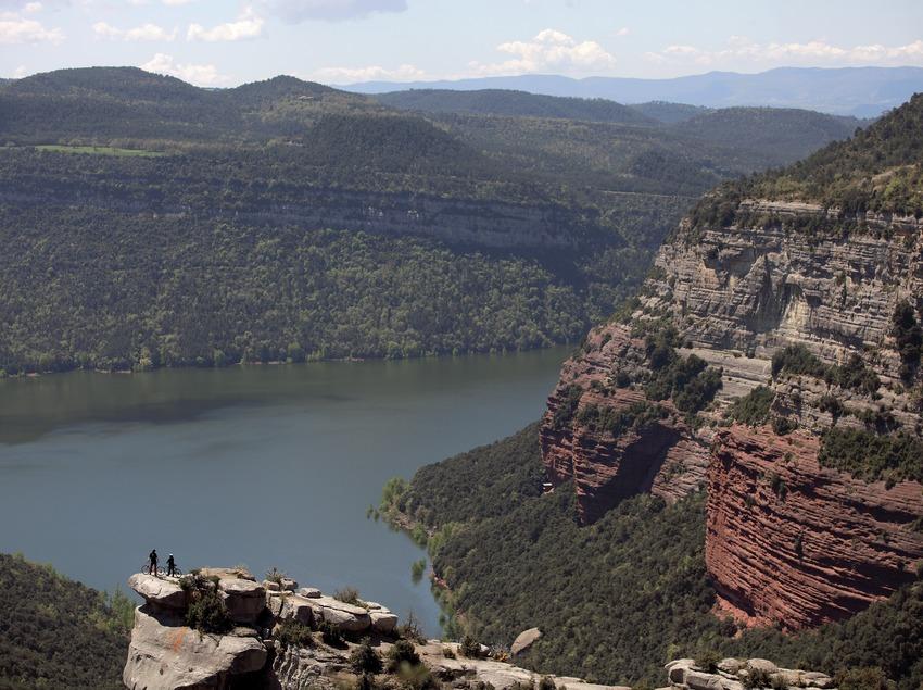 Piste de VTT dans le Vall de Sau-Collsacabra