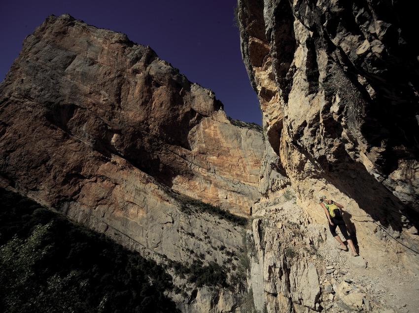 Trekking en el desfiladero de Mont-rebei