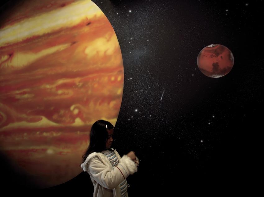 Espai interior del Centre d'Observació de l'Univers