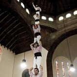 Muestra castellera en Cornellà del Llobregat