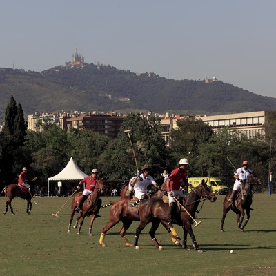 Partido de polo en el Real Club de Polo de Barcelona (Cablepress)