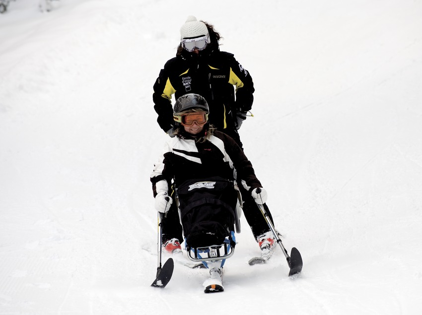 La Molina Ski Resort. Skiing for the disabled