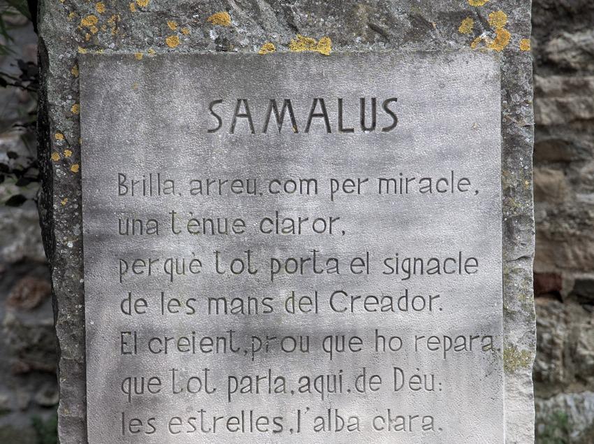 Étoile en hommage à Ramon Chaparral i Boixader. Ermitage Samalús