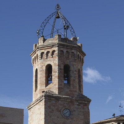 Campanario de la iglesia de la Virgen María de Valldeflors