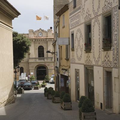 Vilassar de Dalt, carrer Maior i Casa de la Vila