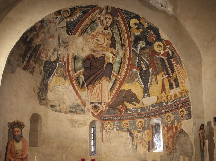 Wandmalereien in der Kirche von Sant Pau i Sant Pere