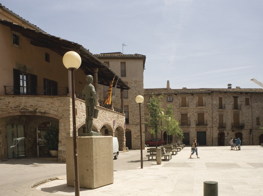 Santpedor, plaça porxada (Juan José Pascual)