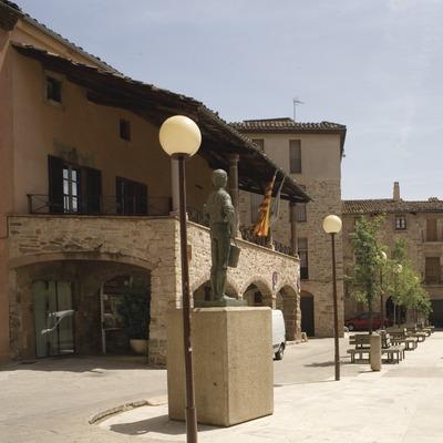 Santpedor. Place à arcades (Juan José Pascual)