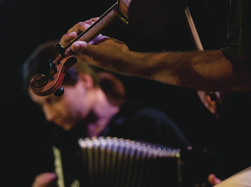 «Trobada d'Acordionistes del Pirineu» (rencontre d'accordéonistes des Pyrénées). Accordéon et violon (Marc Castellet Puig)