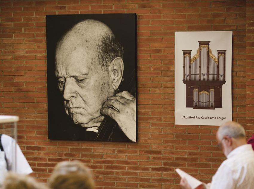 Festival Internacional de Música Pau Casals. Auditorio Pau Casals, retrato Pau Casals, público (Marc Castellet Puig)