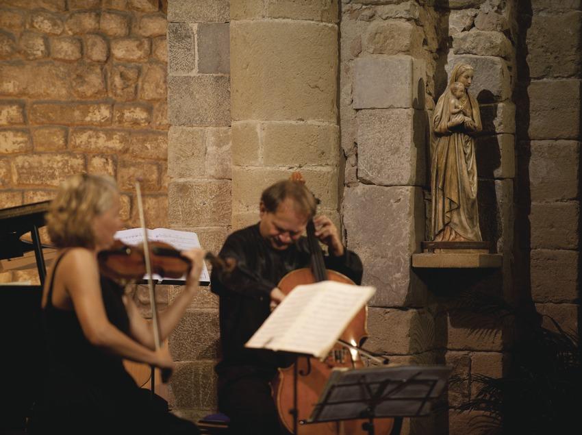 Schubertiada Vilabertran. Iglesia Santa maria, artistas (Jess Trio Wien, Austria), imagen religiosa