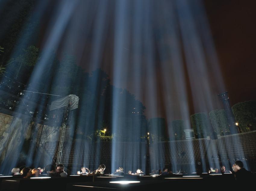 Festivales Sónar-Grec. Inauguració. Teatre Grec, Montjuïc. Espectacle de música i llum Specta, de Ryoji Ikeda.  (Marc Castellet Puig)