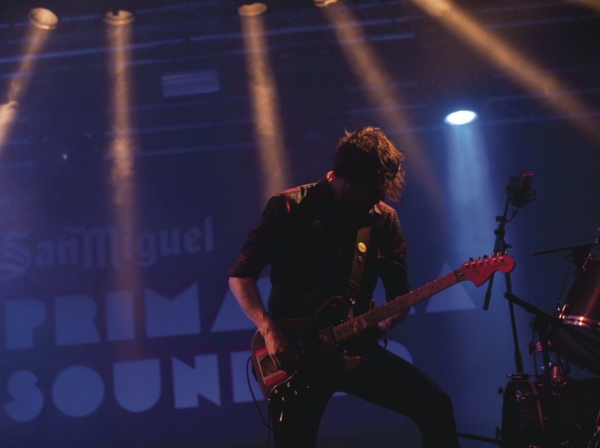 Primavera Sound. Fòrum, logo, guitarrista (Japandroids) (Marc Castellet Puig)