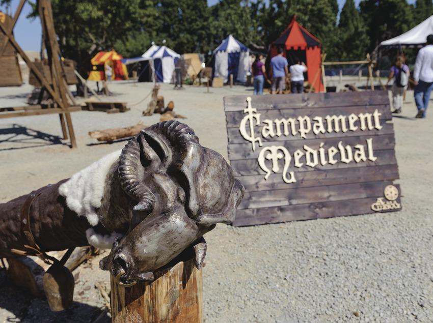 Festival Terra de Trobadors. Castelló d'Empúries, Campamento Militar Medieval, público (Marc Castellet Puig)