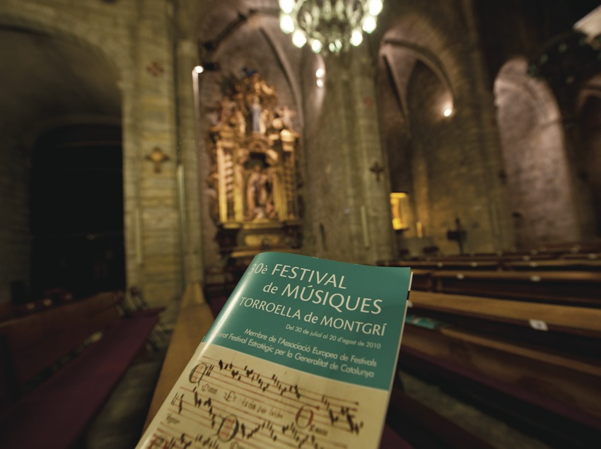 Festival de Músiques de Torroella de Montgrí. Iglesia Sant Genís, programa de mano (Marc Castellet Puig)