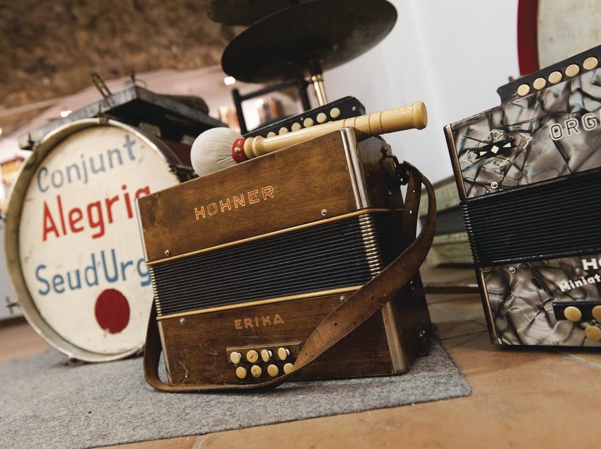 «Trobada d'Acordionistes del Pirineu» (rencontre d'accordéonistes des Pyrénées). Accordéons, batterie, musée de l'accordéon d'Arsèguel (Marc Castellet Puig)