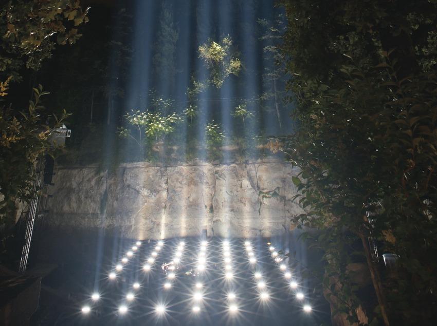 """Festivals Sónar-Grec Inauguración Barcelona. Teatre Grec, Montjuïc, espectáculo de música y luz """"Spectra"""" de Ryoji Ikeda (Marc Castellet Puig)"""